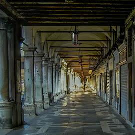 Morning Stroll by Russ Hanson-Coles - City,  Street & Park  Street Scenes