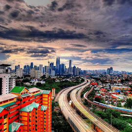 Curved by Ron Lau - City,  Street & Park  Skylines
