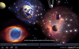 Screenshot of 3D Space Live Wallpaper Full