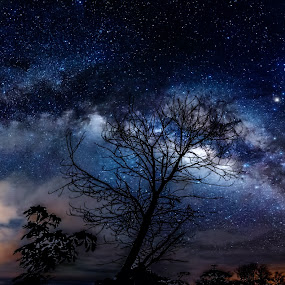 the milkyway by Christianto Mogolid - Landscapes Starscapes ( milkyway, night, photo, panorama, photoshop )