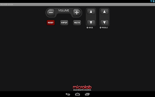 Screenshot of Microlab SOLO remote control