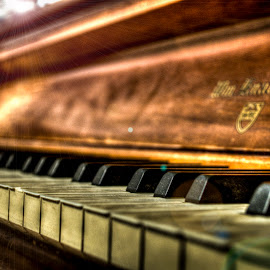 Piano by Avery Benson - Artistic Objects Musical Instruments ( piano, hdr, keys, instrument, flare, sun )