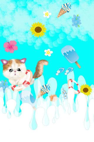Ripple cat Live Wallpaper