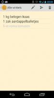 Screenshot of Boodschappenlijstje