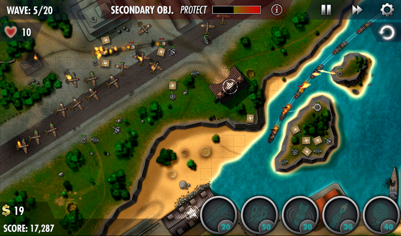 iBomber Defense Pacific Screenshot 7