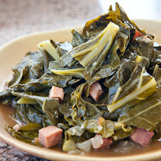 Collard Greens with Ham and Smoked Hock