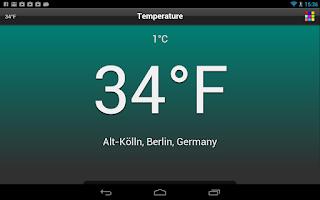 Screenshot of Temperature Free