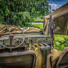 WWII Jeep by Ron Meyers - Transportation Automobiles