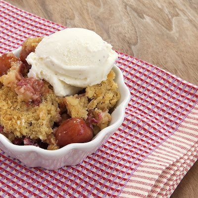 Cherry-Almond Crumble