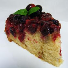 Cranberry Upside-Down Sour Cream Cake