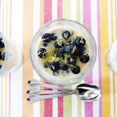 Lemon Blueberry Panna Cotta