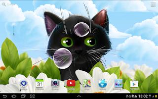 Screenshot of Cute Kitten Live Wallpaper