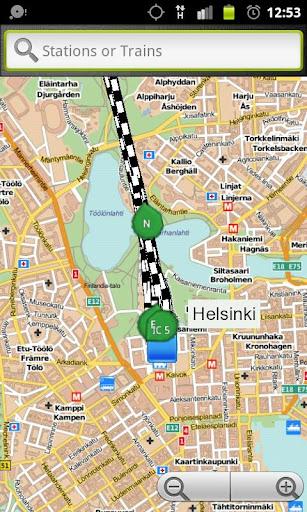 Live train map