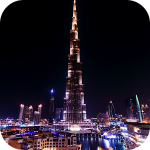 Night Dubai Timelapse LWP