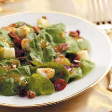 Cranberry Pear Spinach Salad