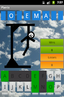 Screenshot of Hangman in English