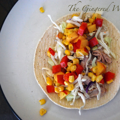 Pork Tacos with Summer Corn Nectarine Salsa