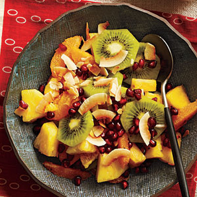 Pineapple and Orange Salad with Toasted Coconut