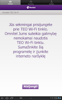 Screenshot of Omnitel TEO Wi-Fi