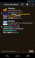 Screenshot of Server Info Minecraft