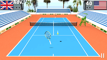 Screenshot of Smash Tennis 3D