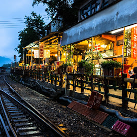 Peace by the rail by Denis Koh - City,  Street & Park  Street Scenes ( shop, railway, track, rail )