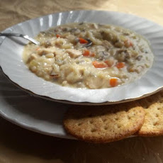 Easy Cream of Wild Rice Chicken Soup