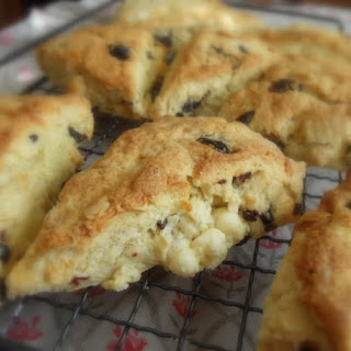 *Sour Cherry, White Chocolate and Almond Scones*
