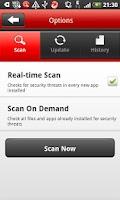 Screenshot of Titanium™ Tablet Security