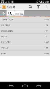 ASTRO File Manager with Clouds Screenshot