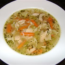 Chicken Soup with Drop-In Noodles