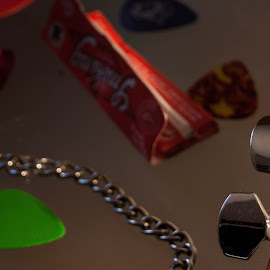 My life is rock'n roll by Vitovarius Stratos - Novices Only Objects & Still Life ( jackson, picks, tobacco, guitar, rock )