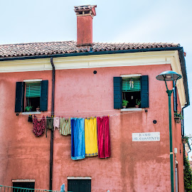 close to the beach by Vibeke Friis - City,  Street & Park  Neighborhoods ( washing drying,  )