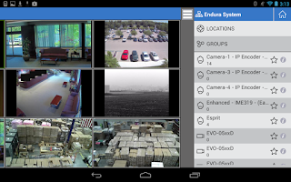 Screenshot of Pelco Mobile™