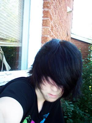 emo boys hair