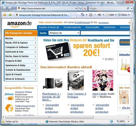 Amazon.de (IE7)