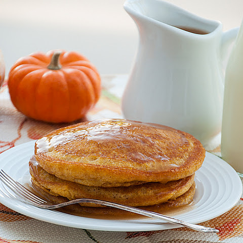 Pumpkin Patch Pancakes with Apple Cider Syrup