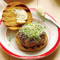 Beer and Bison Burgers with Pub Cheese