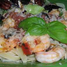 Fettuccine With Shrimp, Tomatoes and Basil