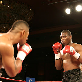 Elijah McCall boxing in Las Vegas by Stephen Jones - Sports & Fitness Boxing