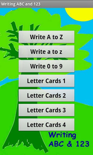 Writing ABC and 123