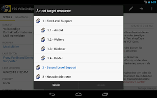 Screenshot of i-net HelpDesk Mobile