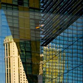 Vegas Hotels by Greg Koehlmoos - Buildings & Architecture Office Buildings & Hotels ( las vegas, reflections in office windows, reflections, office windows, vegas,  )