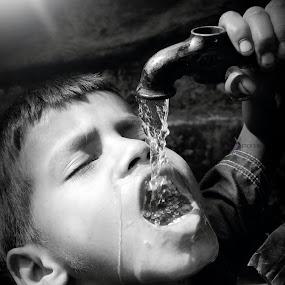Water is life.. by Pranab Sarkar - Babies & Children Children Candids