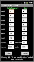 Screenshot of Flush Calculator