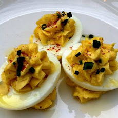 Smokey Deviled Eggs