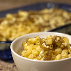 Mac and Two Cheeses with Caramelized Shallots