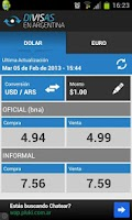 Screenshot of Divisas en Argentina