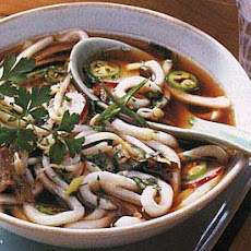 Spicy Vietnamese Beef and Noodle Soup