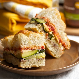Grilled Vegetable Sandwiches with Fontina